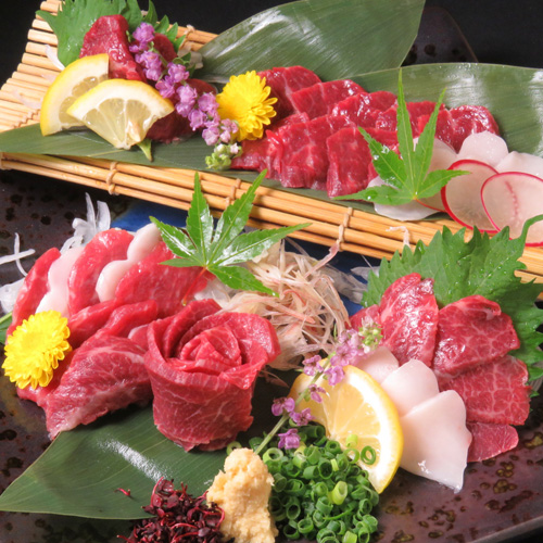 High class of assorted horse sashimi