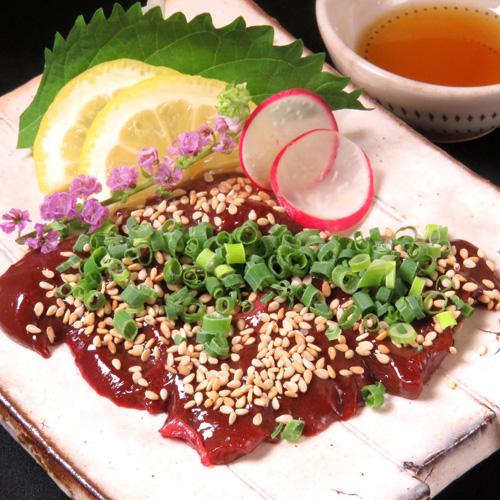 (rare)Horse lever sashimi